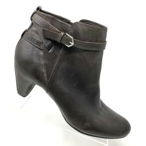 Sam Edelma Brown Leather Ankle Boot Womens Sz 9